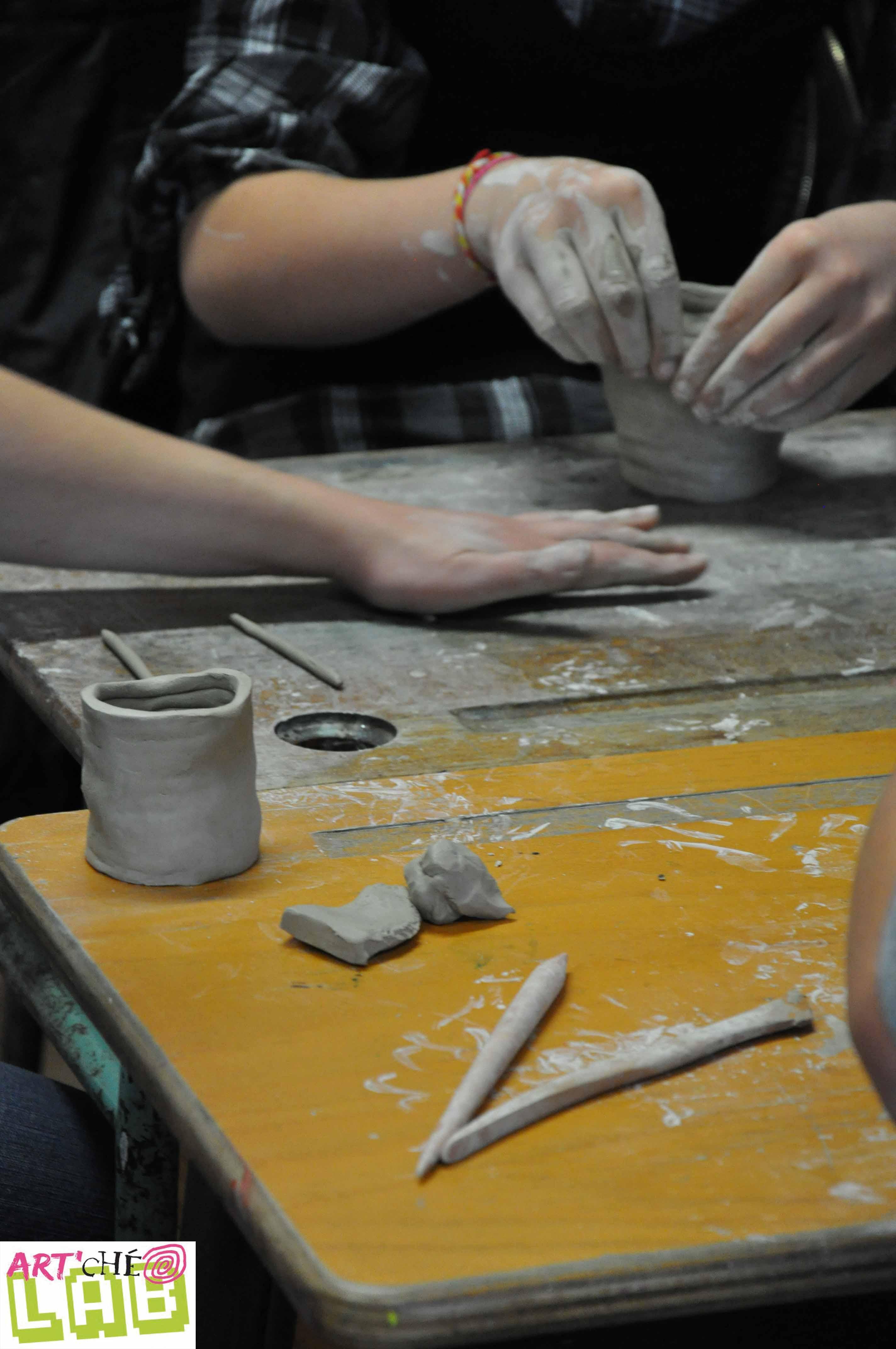photos atelier site internet Art'ChéoLab Céramique